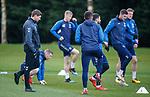 02.04.2019 Rangers training: Steven Gerrard and James Tavernier