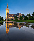 June 26, 2020; Reflection of the Basilica of the Sacred Heart (Photo by Matt Cashore/University of Notre Dame)