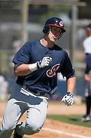 Cleveland Indians minor leaguer Nick Weglarz during Spring Training at the Chain of Lakes Complex on March 17, 2007 in Winter Haven, Florida.  (Mike Janes/Four Seam Images)