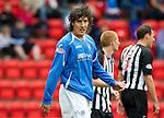 St Johnstone FC Season 2010-11.Francisco Sandaza.Picture by Graeme Hart..Copyright Perthshire Picture Agency.Tel: 01738 623350  Mobile: 07990 594431