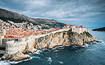 View of the old walled town of Dubrovnik, Croatia