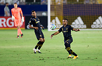 CARSON, CA - SEPTEMBER 06: Diego Palacios #12 of the LAFC moves to the ball during a game between Los Angeles FC and Los Angeles Galaxy at Dignity Health Sports Park on September 06, 2020 in Carson, California.