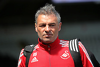 Diego Bortoluzzi pf Swansea arrives during the Swansea City FC v Manchester City Premier League game at the Liberty Stadium, Swansea, Wales, UK, Sunday 15 May 2016