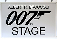 BNPS.co.uk (01202) 558833. <br /> Pic: Ewbanks/BNPS<br /> <br /> Pictured: Among the props on offer is a metal lightbox with the legend Albert R Broccoli 007 Stage estimated to sell for £1,200.<br /> <br /> A rare movie poster for the James Bond film Thunderball that was designed to be torn into four pieces is tipped to sell for £12,000.<br /> <br /> The quad poster contains four individual works of art promoting the 1965 movie.<br /> <br /> The panels show Sean Connery as 007 flying through the air in a jet suit, being mobbed by glamorous women, fighting a scuba diver and sat on a beach poised with weapon in hand.