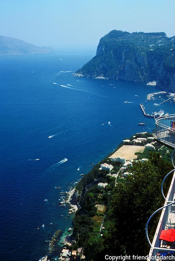Italy: Capri--View from Hotel Caesar Augustus, Anacapri. Photo '83.