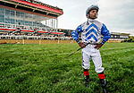 May 15, 2021: Jockey Ricardo Santana in the saddling area before the Preakness on Preakness Stakes Day at Pimlico Race Course in Baltimore, Maryland. Scott Serio/Eclipse Sportswire/CSM