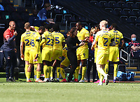 17th April 2021; Liberty Stadium, Swansea, Glamorgan, Wales; English Football League Championship Football, Swansea City versus Wycombe Wanderers; Gareth Ainsworth, Manager of Wycombe Wanderers gives instructions during a stoppage in play