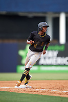 Bradenton Marauders third baseman Ke'Bryan Hayes (31) rounds third base during the first game of a doubleheader against the Tampa Yankees on April 13, 2017 at George M. Steinbrenner Field in Tampa, Florida.  Bradenton defeated Tampa 4-1.  (Mike Janes/Four Seam Images)