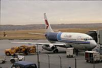 Calgary  (AB) CANADA - 1989  File photo - Canadian plane at Calgary  airport (YYC)