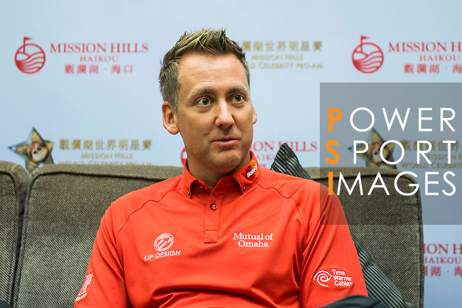 Press Conference during the Mission Hills Celebrity Pro-Am on 25 October 2014, in Haikou, China. Photo by Aitor Alcalde / Power Sport Images