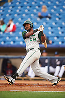 Fort Wayne TinCaps third baseman Duanel Jones (20) at bat during a game against the Lake County Captains on May 20, 2015 at Classic Park in Eastlake, Ohio.  Lake County defeated Fort Wayne 4-3.  (Mike Janes/Four Seam Images)