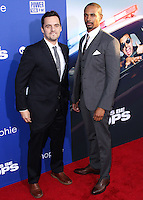 """HOLLYWOOD, LOS ANGELES, CA, USA - AUGUST 07: Jake Johnson, Damon Wayans Jr. at the Los Angeles Premiere Of 20th Century Fox's """"Let's Be Cops"""" held at ArcLight Cinemas Cinerama Dome on August 7, 2014 in Hollywood, Los Angeles, California, United States. (Photo by Xavier Collin/Celebrity Monitor)"""