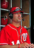 24 May 2009: Washington Nationals' Manager Manny Acta answers fan questions prior to a game against the Baltimore Orioles at Nationals Park in Washington, DC. The Nationals rallied to defeat the Orioles 8-5 and salvage one win of their interleague series. Mandatory Credit: Ed Wolfstein Photo