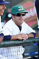 June 16th 2008:  Chris Cates of the Beloit Snappers, Class-A affiliate of the Minnesota Twins, during the Midwest League All-Star Home Run Derby at Dow Diamond in Midland, MI.  Photo by:  Mike Janes/Four Seam Images