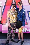 Fashion designer Palomo Spain (l) and his boyfriend during LGTB Pride March in Madrid. July 06, 2019. (ALTERPHOTOS/Francis González)