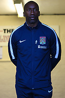 Northampton Town manager Jimmy Floyd Hasselbaink during the Sky Bet League 1 match between Oldham Athletic and Northampton Town at Boundary Park, Oldham, England on 9 December 2017. Photo by Juel Miah / PRiME Media Images.