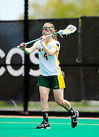 1 May 2010: University of Vermont Catamount attacker Kaitlyn Fuller, a Senior from Jordan, NY, in action against the University of New Hampshire Wildcats at Moulton Winder Field in Burlington, Vermont. The Lady Catamounts fell to the visiting Wildcats 18-10 in the last game of the 2010 regular season. Mandatory Photo Credit: Ed Wolfstein Photo