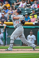 Peter O'Brien (23) of the Reno Aces at bat against the Salt Lake Bees in Pacific Coast League action at Smith's Ballpark on July 18, 2015 in Salt Lake City, Utah. The Bees defeated the Aces 6-4. (Stephen Smith/Four Seam Images)