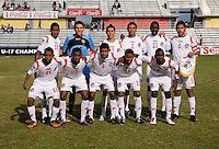 Panama lines up during the third place game of the CONCACAF Men's Under 17 Championship at Catherine Hall Stadium in Montego Bay, Jamaica. Panama defeated Jamaica, 1-0.