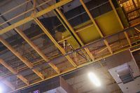 SAO PAULO, SP - 12.02.2019 - CAMPUS PARTY - Vazamento de água no sistema de ar-condicionado, afeta campuseiros durante o primeiro dia da Campus Party Brasil 2019 na manhã desta terça-feira (12) Expo Center Norte na zona norte de Sao Paulo.<br /> <br /> <br /> (Foto: Fabricio Bomjardim / Brazil Photo Press / Folhapress)