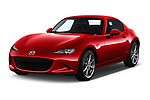 2019 Mazda MX-5 Skycruise 2 Door Targa Angular Front stock photos of front three quarter view