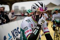 Peter Sagan (SVK/BORA - hansgrohe) at the race start in Antwerpen<br /> <br /> 105th Ronde van Vlaanderen 2021 (MEN1.UWT)<br /> <br /> 1 day race from Antwerp to Oudenaarde (BEL/264km) <br /> <br /> ©kramon