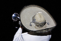 "Sombrero of a Mariachi Trumpet Player, Performance of ""Mexico Espectacular"", Xcaret, Playa del Carmen, Riviera Maya, Yucatan, Mexico."