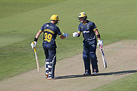 Marnus Labuschagne and Coling Ingram in batting action for Glamorgan during Glamorgan vs Essex Eagles, Vitality Blast T20 Cricket at the Sophia Gardens Cardiff on 13th June 2021