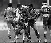 Pix:Michael Steele/SWpix...Widnes v Wigan. Rugby League. From the book 'When Push Comes to Shove'....COPYRIGHT PICTURE>>SIMON WILKINSON..Widnes v Wigan.