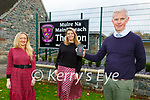 Colm O'Suilleabhain Principal with teachers Niamh O'Shea left and Mary Brosnan who are raising funds on line for developments for the school