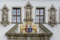 Altes Schloss im Fürst Pückler Park, Bad Muskau, Sachsen, Deutschland, Europa, UNESCO-Weltkuturerbe<br /> old palace  in Fürst Pückler Park, Bad Muskau, Saxony, Germany, Europe, UNESCO-World Heritage