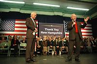 Joe Lieberman campaigning for John McCain in Exeter NH 3.12.08