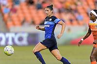 Houston, TX - Sunday June 19, 2016: Yael Averbuch during a regular season National Women's Soccer League (NWSL) match between the Houston Dash and FC Kansas City at BBVA Compass Stadium.