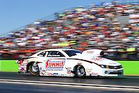 Sept. 22, 2013; Ennis, TX, USA: NHRA pro stock driver Greg Anderson during the Fall Nationals at the Texas Motorplex. Mandatory Credit: Mark J. Rebilas-