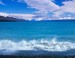 Nea Zealand, South Island, Lake Pukaki with Mt. Cook in the Background