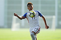 Portland, OR - Wednesday August 09, 2017: Ulysses Llanez during friendly match between the USMNT U17's and Chile u17's at Nike World Headquarters in Portland, OR.