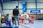 Mannheim, Germany, December 01: During the Bundesliga indoor women hockey match between Mannheimer HC and Nuernberger HTC on December 1, 2019 at Irma-Roechling-Halle in Mannheim, Germany. Final score 7-1. <br /> <br /> Foto © PIX-Sportfotos *** Foto ist honorarpflichtig! *** Auf Anfrage in hoeherer Qualitaet/Aufloesung. Belegexemplar erbeten. Veroeffentlichung ausschliesslich fuer journalistisch-publizistische Zwecke. For editorial use only.