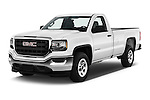 2016 GMC Sierra-1500 2WD-Regular-Cab-Long-Box 2 Door Pick-up Angular Front stock photos of front three quarter view