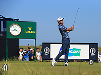 18th July 2021; Royal St Georges Golf Club, Sandwich, Kent, England; The Open Championship,  Golf, Day Four; Collin Morikawa (USA) at the par three 6th hole