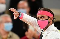 11th October 2020, Roland Garros, Paris, France; French Open tennis, mens singles final 2020;  Rafael Nadal Esp  arrives on court to play Novak Djokovic