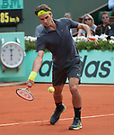 Roger Federer wins  at Roland Garros in Paris, France on June 1, 2012