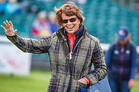 Team USA's Marilyn Payne, heads into the arena to watch Doug Payne during the first day of Dressage. 2019 GBR-Land Rover Burghley Horse Trials. Wednesday 4 September. Copyright Photo: Libby Law Photography