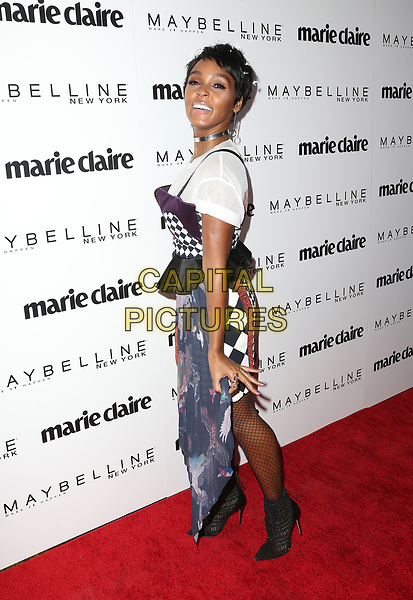 WEST HOLLYWOOD, CA - April 21: Janelle Monae, At Marie Claire's Fresh Faces At Doheny Room In California on April 21, 2017. <br /> CAP/MPI/FS<br /> ©FS/MPI/Capital Pictures
