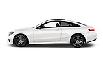 Car driver side profile view of a 2017 Mercedes Benz E Class AMG Line 2 Door Coupe