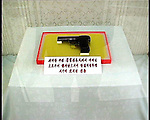 NR00077/ Kim Il Sung's gun. The mother of Kim Il Sung gave this gun from is father of the great leader, september 2000