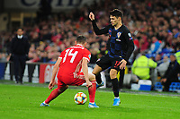 Josip Brekalo of Croatia in action during the UEFA Euro 2020 Qualifier between Wales and Croatia at the Cardiff City Stadium in Cardiff, Wales, UK. Sunday 13 October 2019