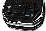 Car Stock 2017 Volkswagen Golf-Variant Trend-Line 5 Door Wagon Engine  high angle detail view