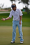 PALM BEACH GARDENS, FL. - Brett Quigley reacts to his 21 foot  putt for birdie on hole 6 during final round play at the 2009 Honda Classic - PGA National Resort and Spa in Palm Beach Gardens, FL. on March 8, 2009.