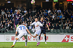 FC Kitchee Forward Alessandro Ferreira (l) heads the ball during the AFC Champions League 2017 Preliminary Stage match between  Kitchee SC (HKG) vs Hanoi FC (VIE) at the Hong Kong Stadium on 25 January 2017 in Hong Kong, Hong Kong. Photo by Marcio Rodrigo Machado/Power Sport Images