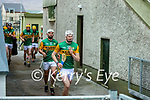 The Kerry team enter the field after the half time break at the National hurling league between Kerry v Down at Austin Stack Park, Tralee on Sunday.